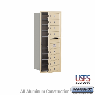 Salsbury 3710S-08SFU 4C Mailboxes 8 Tenant Doors Front Loading