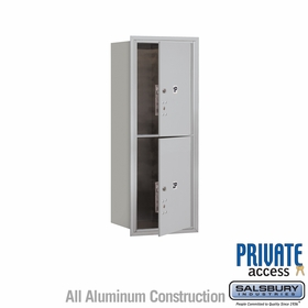 Salsbury 3710S-2PAFP 4C Mailboxes 2 Parcel Lockers Front Loading