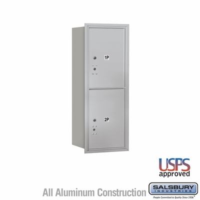 Salsbury 3710S-2PARU 4C Mailboxes 2 Parcel Lockers Rear Loading