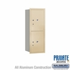 Salsbury 3710S-2PSRP 4C Mailboxes 2 Parcel Lockers Rear Loading