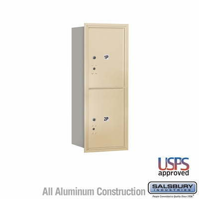 Salsbury 3710S-2PSRU 4C Mailboxes 2 Parcel Lockers Rear Loading