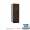 Salsbury 3710S-2PZRP 4C Mailboxes 2 Parcel Lockers Rear Loading