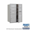 Salsbury 3711D-05AFP 4C Mailboxes 5 Tenant Doors Front Loading