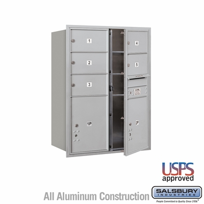 Salsbury 3711D-05AFU 4C Mailboxes 5 Tenant Doors Front Loading