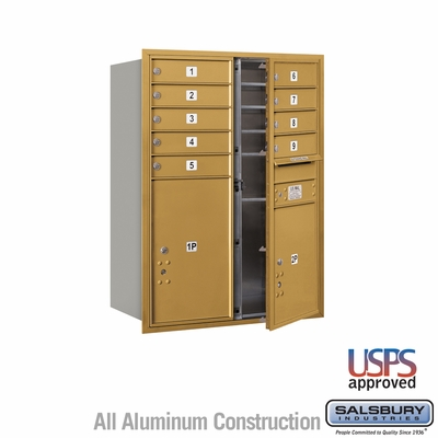 Salsbury 3711D-09GFU 4C Mailboxes 9 Tenant Doors Front Loading