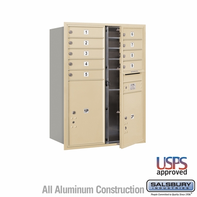 Salsbury 3711D-09SFU 4C Mailboxes 9 Tenant Doors Front Loading