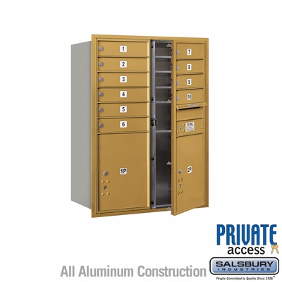Salsbury 3711D-10GFP 4C Mailboxes 10 Tenant Doors Front Loading
