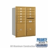 Salsbury 3711D-10GRP 4C Mailboxes 10 Tenant Doors Rear Loading