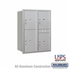 Salsbury 3711D-4PARU 4C Mailboxes 4 Parcel Lockers Rear Loading