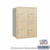 Salsbury 3711D-4PSRU 4C Mailboxes 4 Parcel Lockers Rear Loading