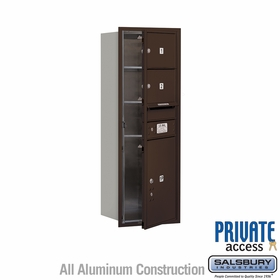 Salsbury 3711S-02ZFP 4C Mailboxes 2 Tenant Doors Front Loading