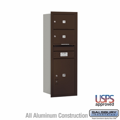 Salsbury 3711S-02ZRU 4C Mailboxes 2 Tenant Doors Rear Loading