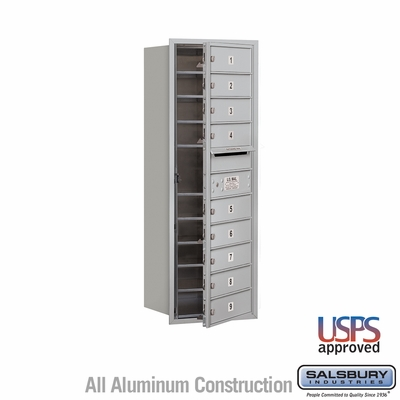 Salsbury 3711S-09AFU 4C Mailboxes 9 Tenant Doors Front Loading
