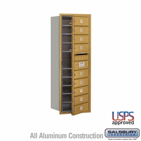 Salsbury 3711S-09GFU 4C Mailboxes 9 Tenant Doors Front Loading