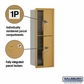 Salsbury 3711S-2PGFU 4C Mailboxes 2 Parcel Lockers Front Loading