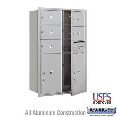 Salsbury 3712D-05AFU 4C Mailboxes 5 Tenant Doors Front Loading