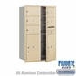 Salsbury 3712D-05SFP 4C Mailboxes 5 Tenant Doors Front Loading