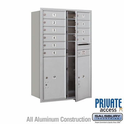 Salsbury 3712D-10AFP 4C Mailboxes 10 Tenant Doors Front Loading
