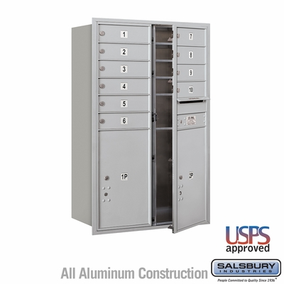 Salsbury 3712D-10AFU 4C Mailboxes 10 Tenant Doors Front Loading