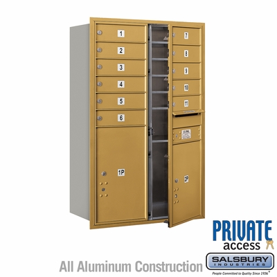 Salsbury 3712D-11GFP 4C Mailboxes 11 Tenant Doors Front Loading