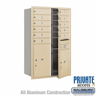 Salsbury 3712D-11SFP 4C Mailboxes 11 Tenant Doors Front Loading