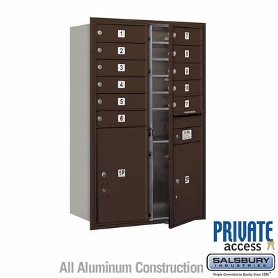 Salsbury 3712D-11ZFP 4C Mailboxes 11 Tenant Doors Front Loading