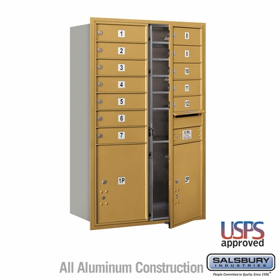 Salsbury 3712D-12GFU 4C Mailboxes 12 Tenant Doors Front Loading