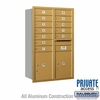 Salsbury 3712D-12GRP 4C Mailboxes 12 Tenant Doors Rear Loading