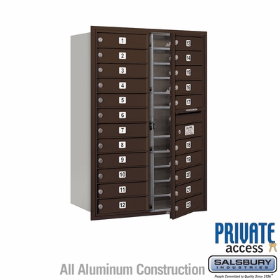 Salsbury 3712D-22ZFP 4C Mailboxes 22 Tenant Doors Front Loading