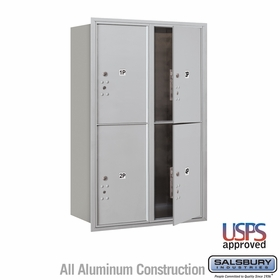 Salsbury 3712D-4PAFU 4C Mailboxes 4 Parcel Lockers Front Loading