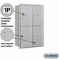 Salsbury 3712D-4PARU 4C Mailboxes 4 Parcel Lockers Rear Loading