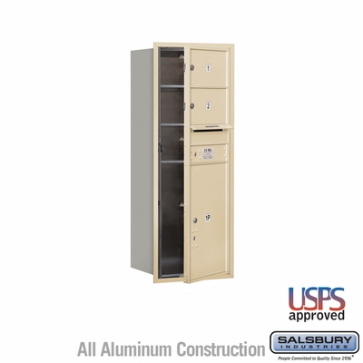 Salsbury 3712S-02SFU 4C Mailboxes 2 Tenant Doors Front Loading