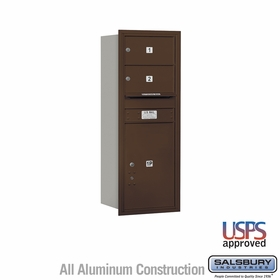 Salsbury 3712S-02ZRU 4C Mailboxes 2 Tenant Doors Rear Loading