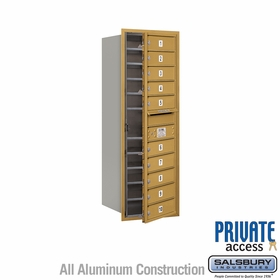 Salsbury 3712S-10GFP 4C Mailboxes 10 Tenant Doors Front Loading