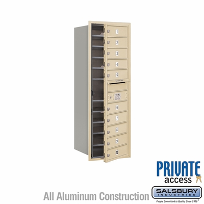 Salsbury 3712S-10SFP 4C Mailboxes 10 Tenant Doors Front Loading