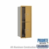 Salsbury 3712S-2PGFP 4C Mailboxes 2 Parcel Lockers Front Loading