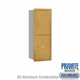 Salsbury 3712S-2PGRP 4C Mailboxes 2 Parcel Lockers Rear Loading