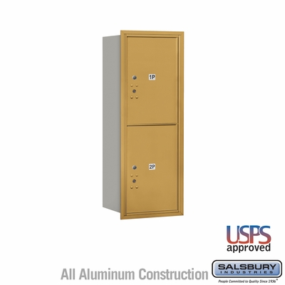 Salsbury 3712S-2PGRU 4C Mailboxes 2 Parcel Lockers Rear Loading