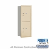 Salsbury 3712S-2PSRP 4C Mailboxes 2 Parcel Lockers Rear Loading