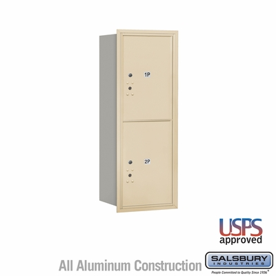 Salsbury 3712S-2PSRU 4C Mailboxes 2 Parcel Lockers Rear Loading