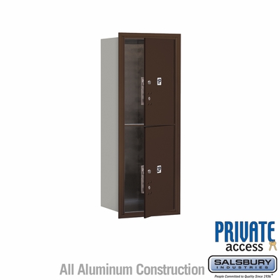 Salsbury 3712S-2PZFP 4C Mailboxes 2 Parcel Lockers Front Loading
