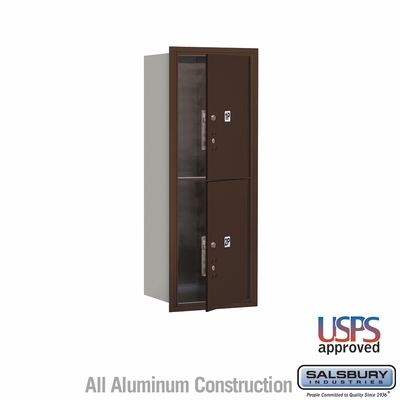 Salsbury 3712S-2PZFU 4C Mailboxes 2 Parcel Lockers Front Loading