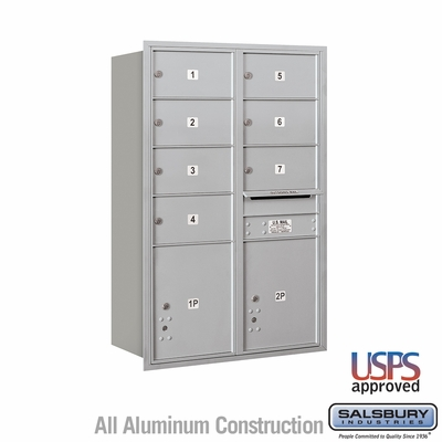 Salsbury 3713D-07AFU 4C Mailboxes 7 Tenant Doors Front Loading
