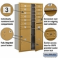 Salsbury 3713D-12GFU 4C Mailboxes 12 Tenant Doors Front Loading