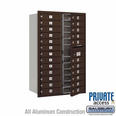Salsbury 3713D-24ZFP 4C Mailboxes 24 Tenant Doors Front Loading