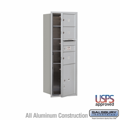 Salsbury 3713S-03AFU 4C Mailboxes 3 Tenant Doors Front Loading