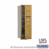Salsbury 3713S-03GFU 4C Mailboxes 3 Tenant Doors Front Loading