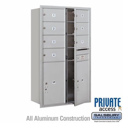 Salsbury 3714D-07AFP 4C Mailboxes 7 Tenant Doors Front Loading