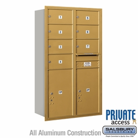 Salsbury 3714D-07GRP 4C Mailboxes 7 Tenant Doors Rear Loading
