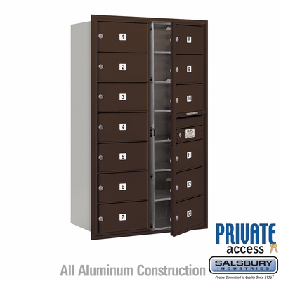 Salsbury 3714D-13ZFP 4C Mailboxes 13 Tenant Doors Front Loading